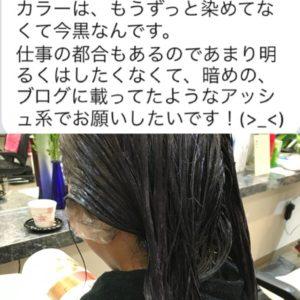 【ブルーベリーアッシュカラー】地毛の黒髪からブリーチなしの上質アッシュ