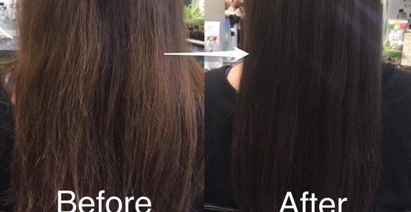 グレーアッシュカラー×髪質改善で暗めだけど透明感な髪に