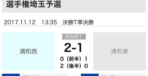 【全国高校サッカー選手権】母校「浦和西高校」が全国リーチ