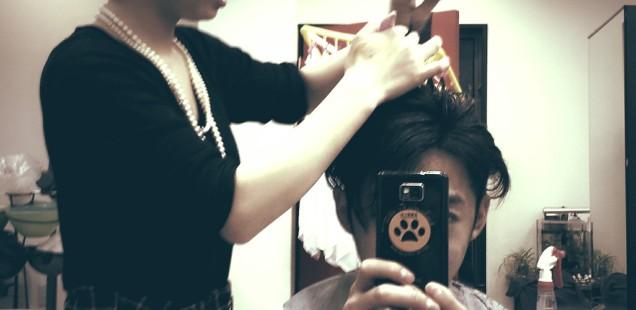 2014年の髪切り納め