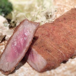 【初めて食べた】巷で話題の牛かつを食べてみた@渋谷・もと村