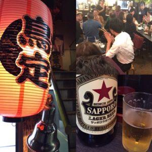 【池袋・鳥定】専門からの友人と、レトロ空間で酒と焼き鳥を嗜む