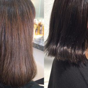 【加工なし】ブルーグレーカラーを人気女優さんの髪色なイメージで作る