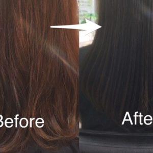 【ヘアカラーと髪質改善】オレンジに退色して、まとまりづらくなった髪へのアプローチ