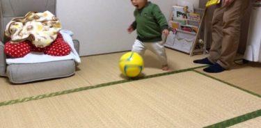 1歳4ヶ月でドリブル始めた息子氏。
